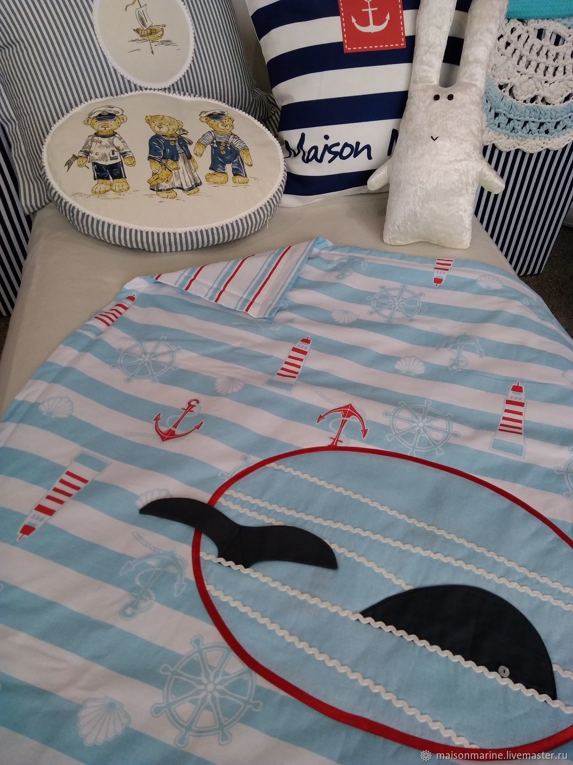 Touch the whale tail 105h122sm, Baby blanket, Moscow,  Фото №1