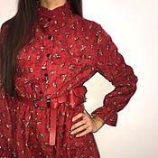 Одежда ручной работы. Ярмарка Мастеров - ручная работа Вельветовое платье винтажного стиля. Handmade.
