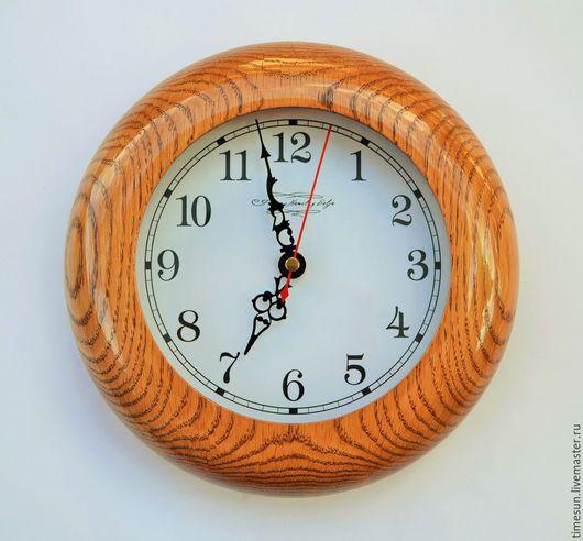 Часы для дома ручной работы. Ярмарка Мастеров - ручная работа. Купить Настенные часы из дуба. Handmade. Коричневый, дерево, дуб
