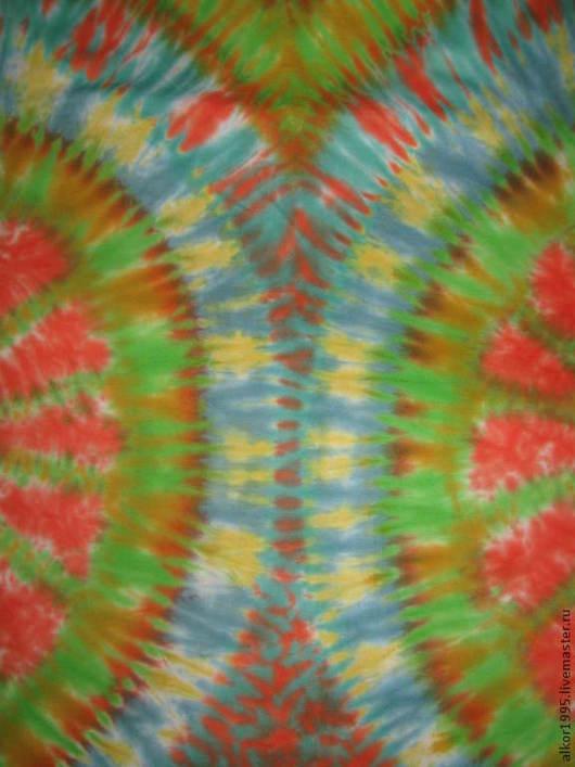 """Для мужчин, ручной работы. Ярмарка Мастеров - ручная работа. Купить Тай дай футболка""""Колесо жизни"""".. Handmade. Разноцветный"""