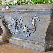 Цветы и флористика handmade. Livemaster - original item Provence planter Angel concrete street container Country. Handmade.