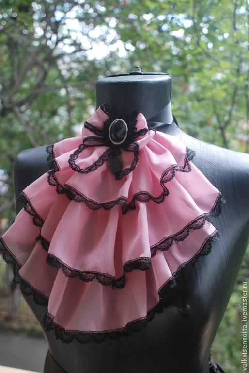 """Воротнички ручной работы. Ярмарка Мастеров - ручная работа. Купить Жабо """" Moulin Rouge"""". Handmade. Жабо, розовое жабо"""