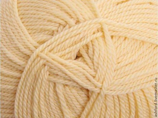 """Вязание ручной работы. Ярмарка Мастеров - ручная работа. Купить Пряжа для вязания, шерсть """"Масло"""", 100 g. Handmade. Бежевый"""