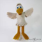 Куклы и игрушки handmade. Livemaster - original item Toy puppet theater - Goose. Handmade.