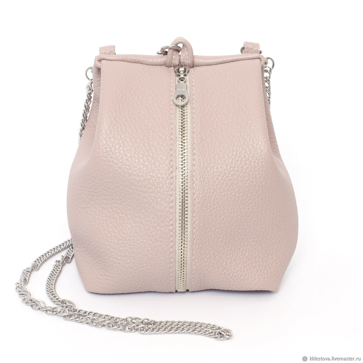 Handbags handmade. Livemaster - handmade. Buy Pink small Handbag Crossbody sack Purse with chain.Leather, shopper