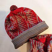 Аксессуары handmade. Livemaster - original item Accessories kits: Red hat and Snood set winter 204. Handmade.