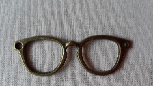 Для украшений ручной работы. Ярмарка Мастеров - ручная работа. Купить НЕТ Подвеска очки. Handmade. Золотой, очки