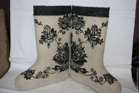 Обувь ручной работы. Ярмарка Мастеров - ручная работа. Купить ГРАЦИЯ 1. Handmade. Белый, авторские валенки, эксклюзивный подарок
