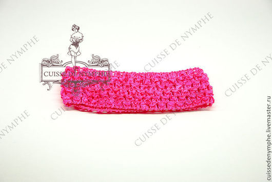 Шитье ручной работы. Ярмарка Мастеров - ручная работа. Купить Повязка на голову, розовый неон, 6035. Handmade. Топ