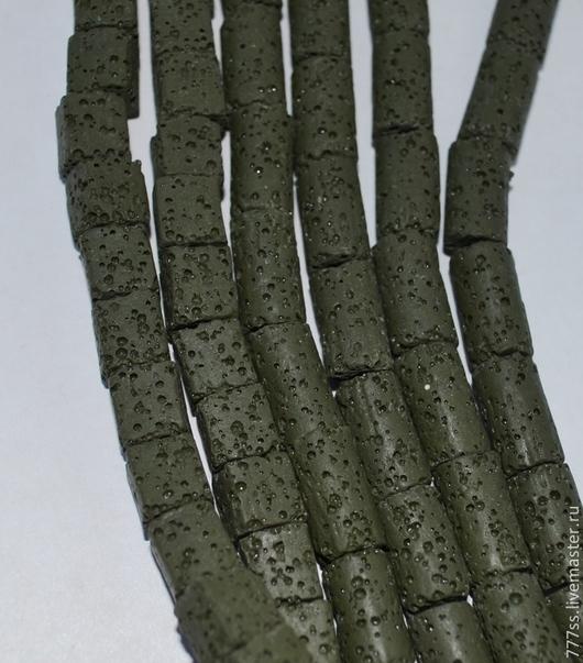 Для украшений ручной работы. Ярмарка Мастеров - ручная работа. Купить Лава зеленая (трубки и кубики). Handmade. Болотный