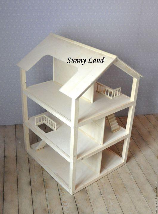 Кукольный дом ручной работы. Ярмарка Мастеров - ручная работа. Купить Кукольный домик №2. Handmade. Бежевый, игрушечный домик