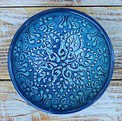 Посуда ручной работы. Ярмарка Мастеров - ручная работа Керамическая пиала маленькая (сапфир). Handmade.