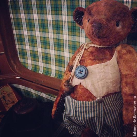 Мишки Тедди ручной работы. Ярмарка Мастеров - ручная работа. Купить Потап. Handmade. Оранжевый, тедди, мишка ручной работы