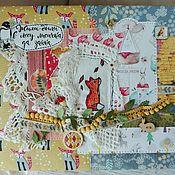 """Фотоальбомы ручной работы. Ярмарка Мастеров - ручная работа Альбом про год жизни малыша """"Жила-была лиса"""". Handmade."""