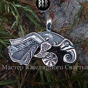 "Украшения handmade. Livemaster - original item Amulet ""Raven Of Odin"" silver 925. Handmade."