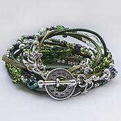 Украшения handmade. Livemaster - original item Boho bracelet. A voluminous boho bracelet. Wide bracelet. Handmade.