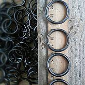 Материалы для творчества ручной работы. Ярмарка Мастеров - ручная работа Кольцо литое металлическое 30/24 мм тёмный никель. Handmade.