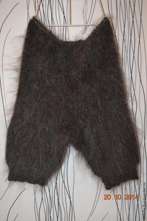 Брюки, шорты ручной работы. Ярмарка Мастеров - ручная работа. Купить Панталоны-шорты  вязанные женские пуховые. Handmade. Однотонный