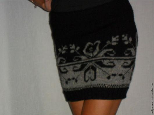 """Юбки ручной работы. Ярмарка Мастеров - ручная работа. Купить юбка """"Твидовый узор"""".. Handmade. Черный, юбка вязаная, для девушки"""