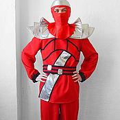 Одежда handmade. Livemaster - original item Lego Ninja Go (Red). Animator-actor suit. Handmade.