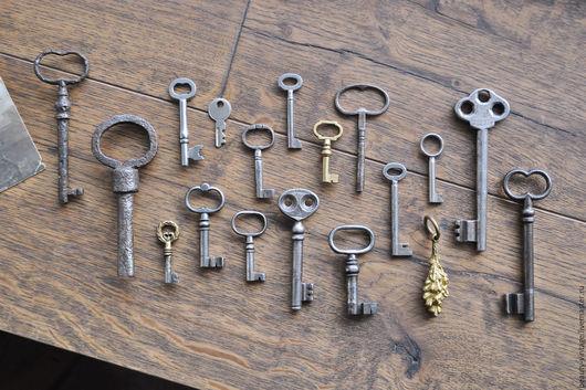 Реставрация. Ярмарка Мастеров - ручная работа. Купить Старинные и винтажные ключи. Handmade. Старый ключ, винтаж, старинный, для фотосессии