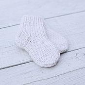 Работы для детей, handmade. Livemaster - original item Woolen socks for a newborn. Handmade.
