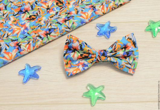 """Галстуки, бабочки ручной работы. Ярмарка Мастеров - ручная работа. Купить Бабочка-галстук """"Васильки"""". Handmade. Абстрактный, бабочка"""