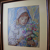Картины и панно handmade. Livemaster - original item Embroidered picture of