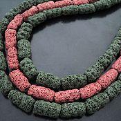 Материалы для творчества handmade. Livemaster - original item Volcanic lava tube beads 20mm. Handmade.