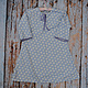 Одежда для девочек, ручной работы. Ярмарка Мастеров - ручная работа. Купить Ночная рубашка васильковая для девочки винтаж хлопок 5 6 л. Handmade.