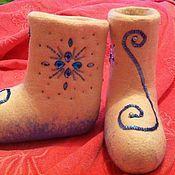 """Обувь ручной работы. Ярмарка Мастеров - ручная работа валенки """"Северное сияние"""". Handmade."""