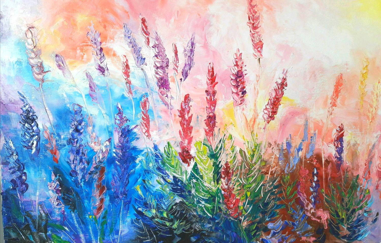 Яркая картина с цветами, Картины, Нижний Новгород,  Фото №1