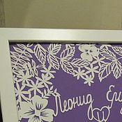 Картины ручной работы. Ярмарка Мастеров - ручная работа Подарок на свадьбу. Картина из бумаги.. Handmade.