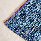 Для дома и интерьера ручной работы. Ярмарка Мастеров - ручная работа коврик-дорожка меланж синие тона. Handmade.