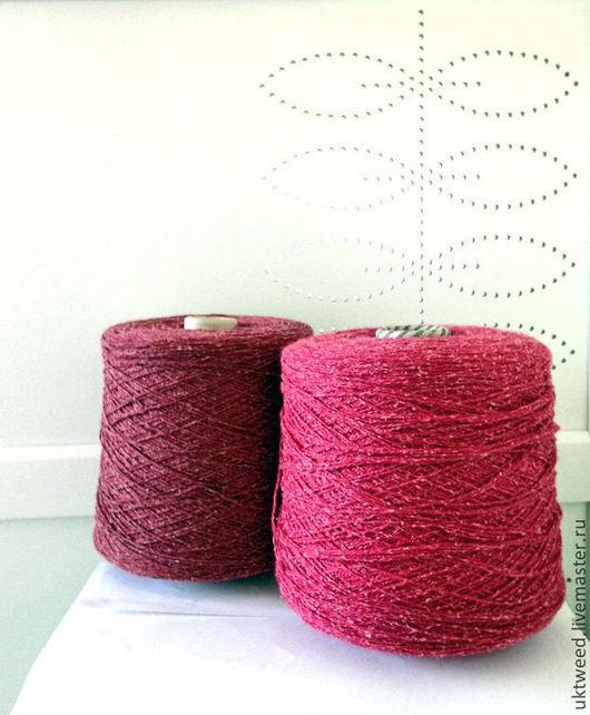 Вязание ручной работы. Ярмарка Мастеров - ручная работа. Купить Самарканд - 75% шерсть, 25% - шелк. Handmade. Бордовый, шерсть