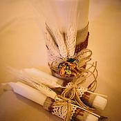 """Свадебный салон ручной работы. Ярмарка Мастеров - ручная работа Свадебные свечи """"Осень"""". Handmade."""