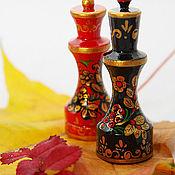 Подарки к праздникам ручной работы. Ярмарка Мастеров - ручная работа шахматы   Хохлома  Золотая осень ручная работа. Handmade.