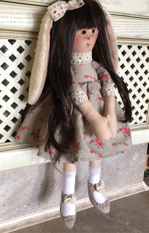 Куклы Тильды ручной работы. Ярмарка Мастеров - ручная работа. Купить Заюшка - Лапушка. Handmade. Интерьерная кукла, кукла в подарок