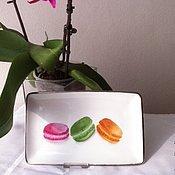 """Посуда ручной работы. Ярмарка Мастеров - ручная работа Тарелка  """" Французские Les Macarons """".Фарфор. Handmade."""