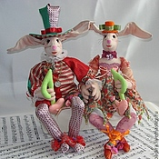 Для дома и интерьера handmade. Livemaster - original item Sculptural and textile dolls Clowns-musicians. Handmade.