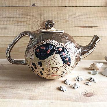 Посуда ручной работы. Ярмарка Мастеров - ручная работа Чайник Густав Климт. Handmade.
