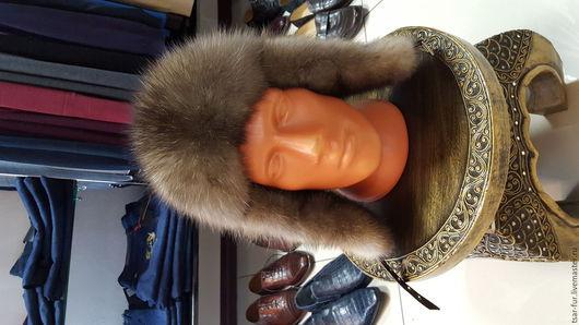 Верхняя одежда ручной работы. Ярмарка Мастеров - ручная работа. Купить шапки из соболя. Handmade. Серый, крокодил, кожа питона