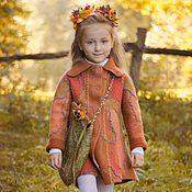 Работы для детей, handmade. Livemaster - original item Set Coat, Boots, Bag felted Autumn. Handmade.