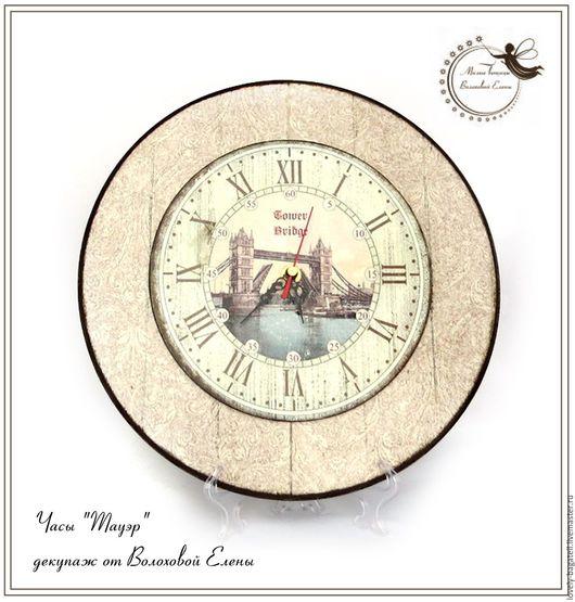"""Часы для дома ручной работы. Ярмарка Мастеров - ручная работа. Купить Часы настенные """"Тауэр"""". Handmade. Коричневый, имитация досочек"""
