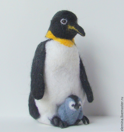 Игрушки животные, ручной работы. Ярмарка Мастеров - ручная работа. Купить Пингвин валяный из шерсти. Handmade. Чёрно-белый