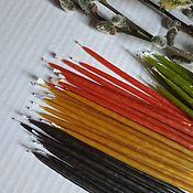 Фен-шуй и эзотерика handmade. Livemaster - original item Colored candles 40 PCs of 100% beeswax. Handmade.