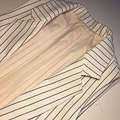 Одежда handmade. Livemaster - original item White striped vest. Handmade.