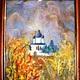"""Символизм ручной работы. картина """"Церковь"""". Клуб 'Дизаин Духа'. Ярмарка Мастеров. Картина подарок, войлок"""