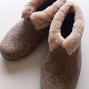 Обувь ручной работы handmade. Livemaster - original item Chuni felted women`s. Handmade.
