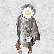 Одежда ручной работы. Ярмарка Мастеров - ручная работа Детская шубка из меха кролика с апликацией.. Handmade.